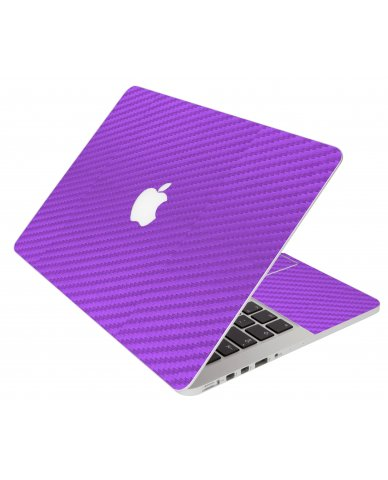Purple Carbon Fiber Apple Macbook Pro 13 Retina A1502  Laptop Skin