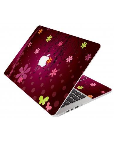 Retro Pink Flowers Apple Macbook Pro 13 Retina A1502  Laptop Skin