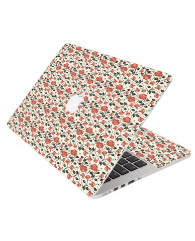 Pink Black Roses Pro 15 A1286 Apple Macbook Laptop Skin