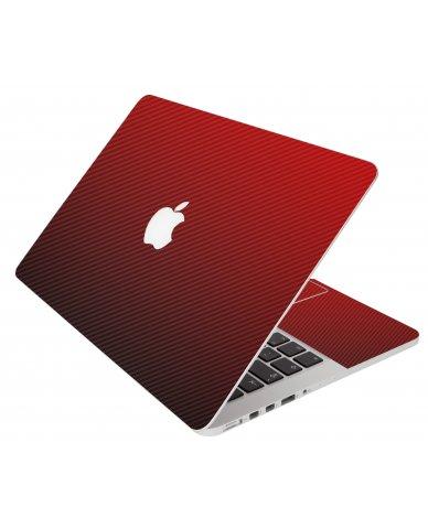 Red Carbon Fiber Apple Macbook Pro 15 A1286 Laptop Skin