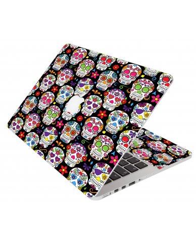 Sugar Skulls Seven Apple Macbook Pro 15 A1286 Laptop Skin