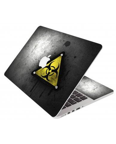 Black Caution Apple Macbook Pro 15 Retina A1398 Laptop Skin