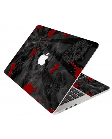 Black Skull Red Apple Macbook Pro 15 Retina A1398 Laptop Skin