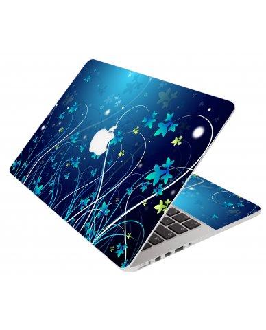 Blue Flower Apple Macbook Pro 15 Retina A1398 Laptop Skin