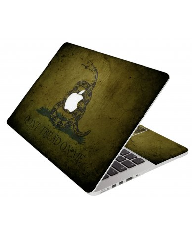 Green Dont Tread Flag Apple Macbook Pro 15 Retina A1398 Laptop Skin