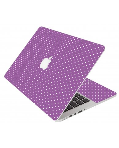 Purple Polka Dot Apple Macbook Pro 15 Retina A1398  Laptop Skin