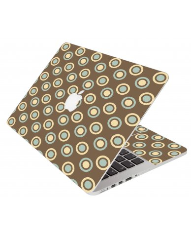 Retro Polka Dot Apple Macbook Pro 15 Retina A1398  Laptop Skin