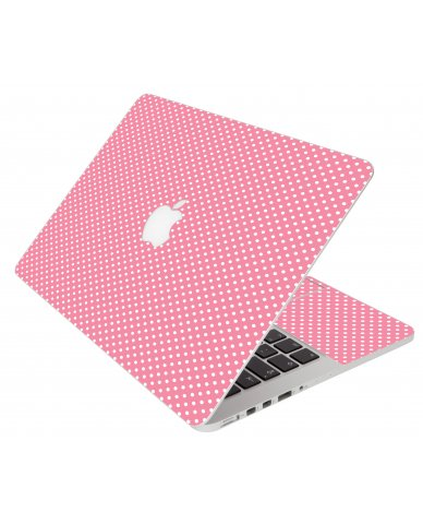 Retro Salmon Polka Apple Macbook Pro 15 Retina A1398  Laptop Skin