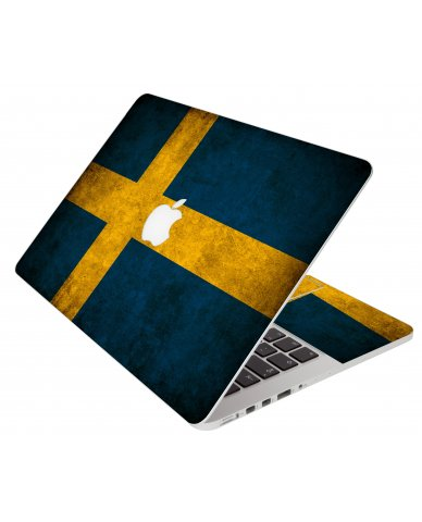 Swedish Flag Apple Macbook Pro 15 Retina A1398 Laptop  Skin