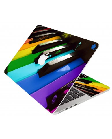 Colorful Piano Apple Macbook Pro 17 A1151 Laptop Skin