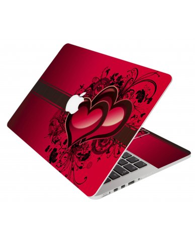Love Heart Apple Macbook Pro 17 A1151 Laptop Skin