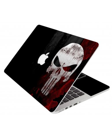 Punisher Skull Apple Macbook Pro 17 A1151 Laptop Skin