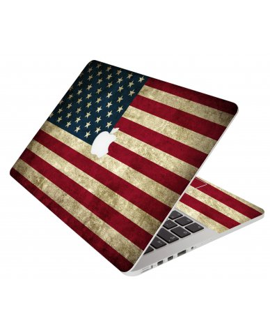 American Flag Apple Macbook Pro 17 A1297 Laptop Skin