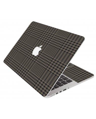 Beige Plaid Apple Macbook Pro 17 A1297 Laptop Skin