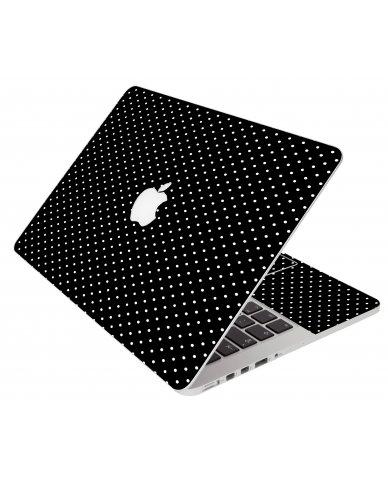 Black Polka Dots Apple Macbook Pro 17 A1297 Laptop Skin