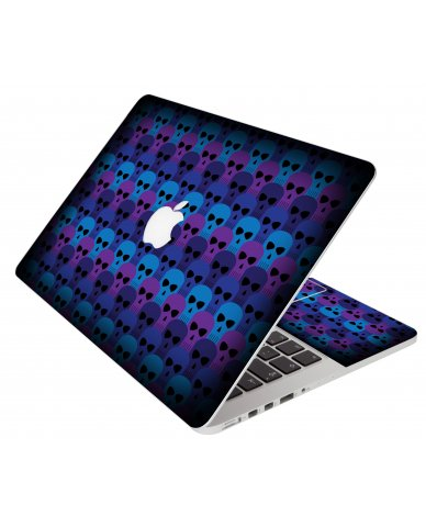 Blue Skulls Apple Macbook Pro 17 A1297 Laptop Skin