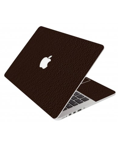 Brown Leather Apple Macbook Pro 17 A1297 Laptop Skin