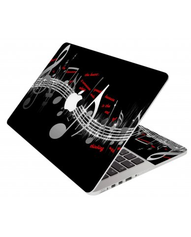 Music Notes Apple Macbook Pro 17 A1297 Laptop Skin