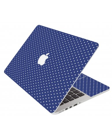 Navy Polka Dot Apple Macbook Pro 17 A1297 Laptop Skin
