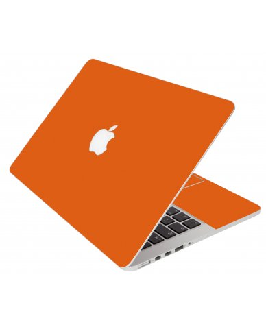 Orange Apple Macbook Pro 17 A1297 Laptop Skin