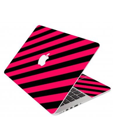 Pink Black Stripes Apple Macbook Pro 17 A1297 Laptop  Skin