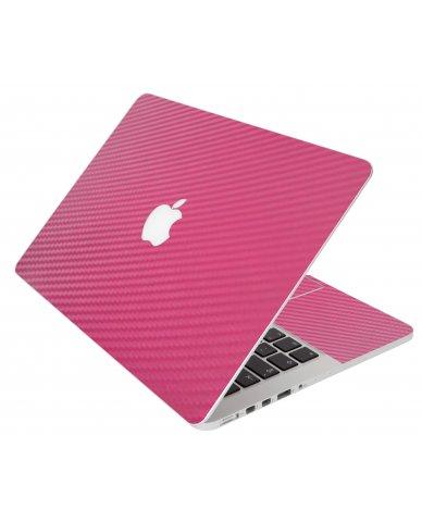 Pink Carbon Fiber Apple Macbook Pro 17 A1297 Laptop Skin