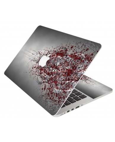 Tribal Grunge Apple Macbook Pro 17 A1297 Laptop Skin