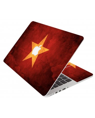 Vietnam Flag Apple Macbook Pro 17 A1297 Laptop Skin