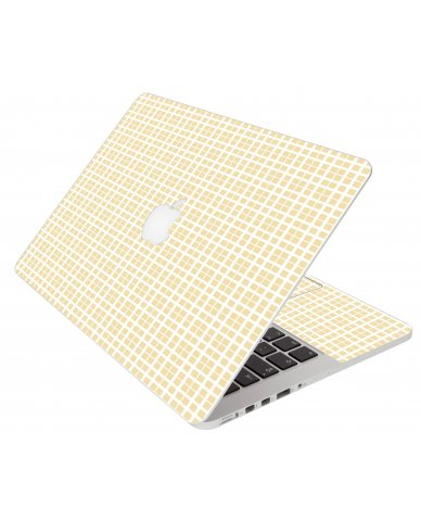 Warm Plaid Apple Macbook Pro 17 A1297 Laptop Skin