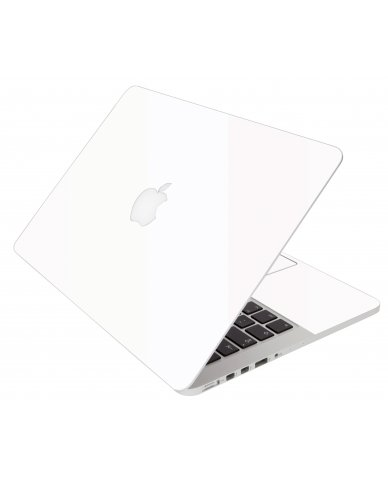 White Apple Macbook Pro 17 A1297 Laptop Skin