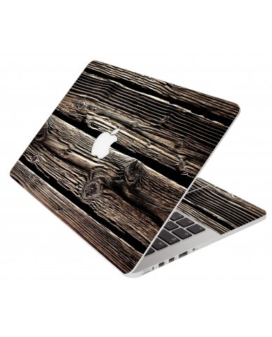 Wood Apple Macbook Pro 17 A1297 Laptop Skin