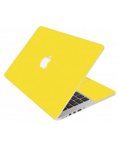 Yellow Apple Macbook Pro 17 A1297 Laptop Skin