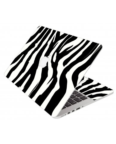 Zebra Apple Macbook Pro 17 A1297 Laptop Skin