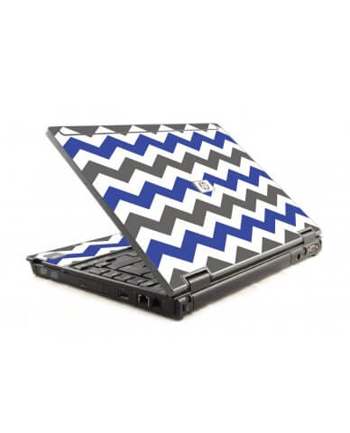 Grey Blue Chevron HP Compaq 6910P Laptop Skin
