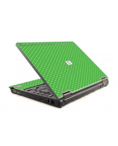 Kelly Green Polka HP Compaq 6910P Laptop Skin
