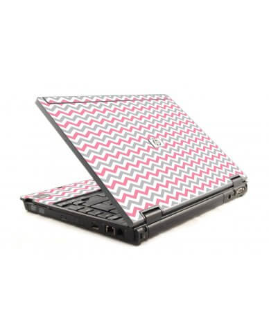Pink Grey Chevron Waves HP Compaq 6910P Laptop Skin