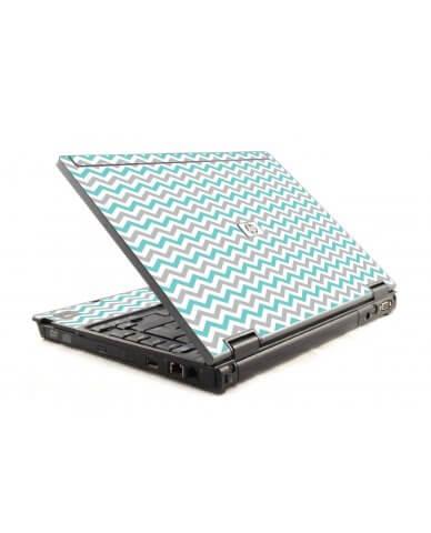 Teal Grey Chevron Waves HP Compaq 6910P Laptop Skin