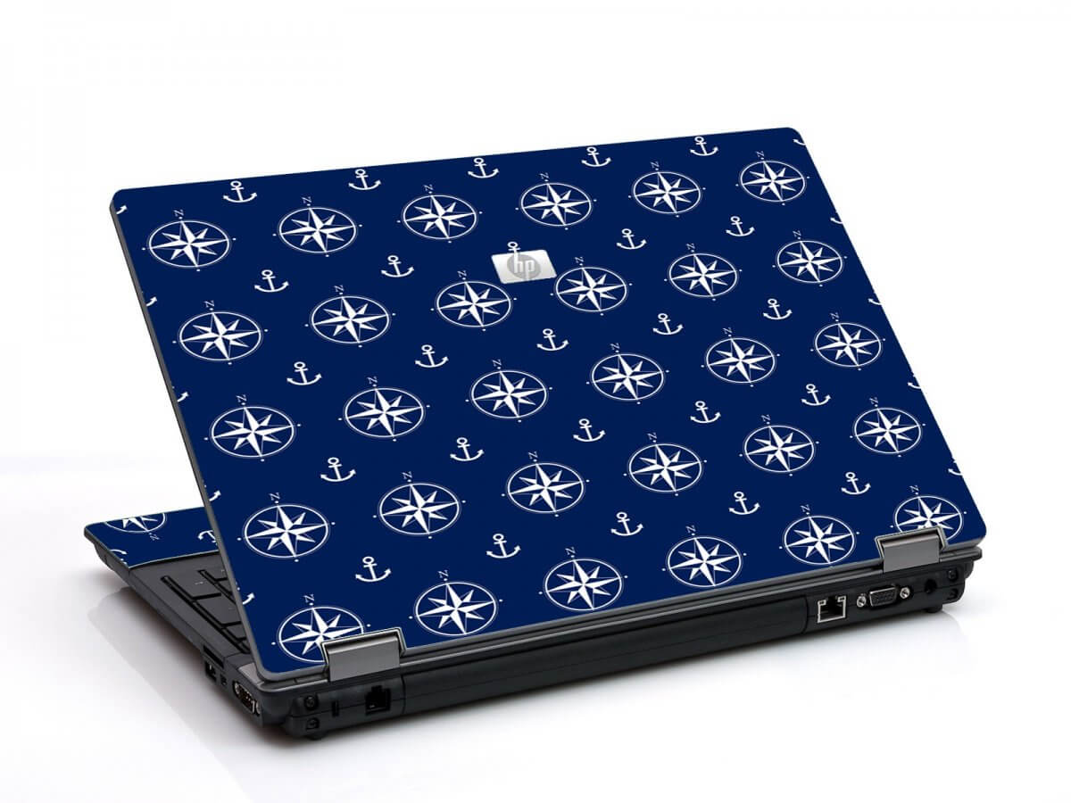 Nautical Anchors 6530B Laptop Skin
