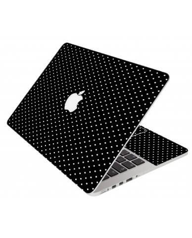 Black Polka Dots Apple Macbook Air 11 A1370 Laptop Skin