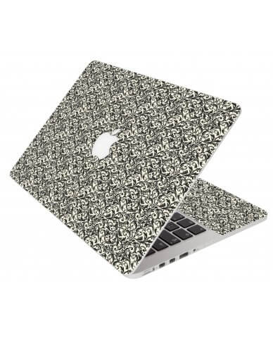Black Versailles Apple Macbook Air 11 A1370 Laptop Skin