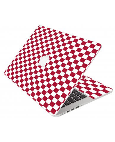 Red Checkered Apple Macbook Air 11 A1370 Laptop Skin