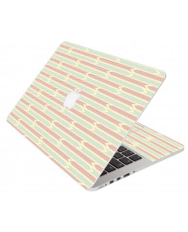Crazy Circus Stripes Apple Macbook Air 13 A1466 Laptop Skin