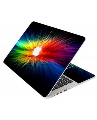 Rainbow Burst Apple Macbook Original 13 A1181 Laptop Skin