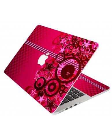 Pink Grunge Stars Apple Macbook Pro 17 A1297 Laptop  Skin
