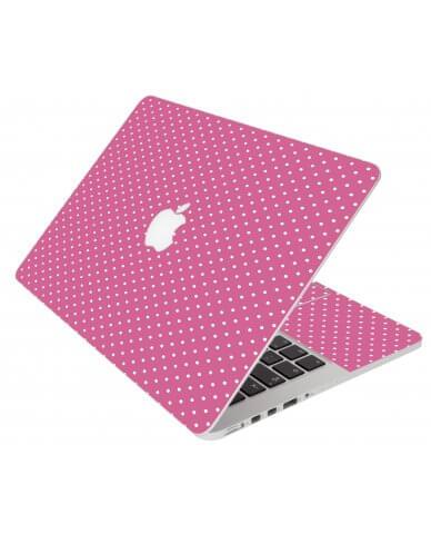 Pink Polka Dot Apple Macbook Pro 17 A1297 Laptop Skin