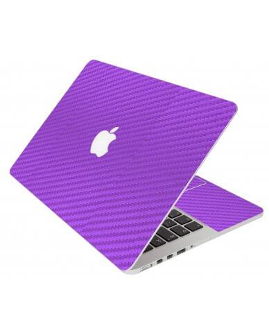 Purple Carbon Fiber Apple Macbook Pro 17 A1297 Laptop  Skin