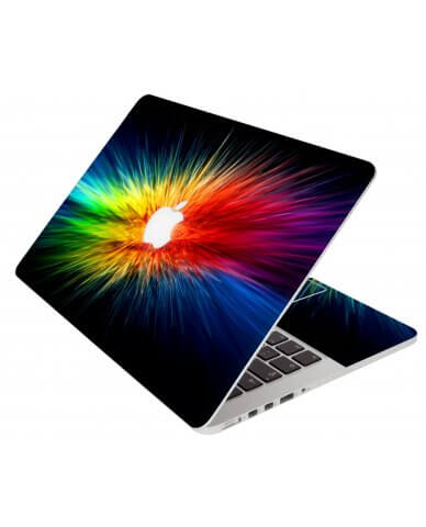 Rainbow Burst Apple Macbook Pro 17 A1297 Laptop Skin