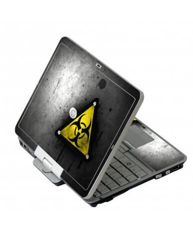 Black Caution HP EliteBook 2730P Laptop Skin