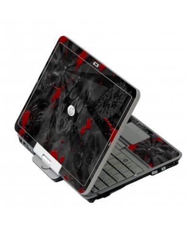 Black Skulls Red HP EliteBook 2730P Laptop Skin