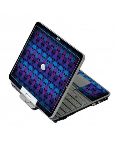 Blue Skulls HP EliteBook 2730P Laptop Skin